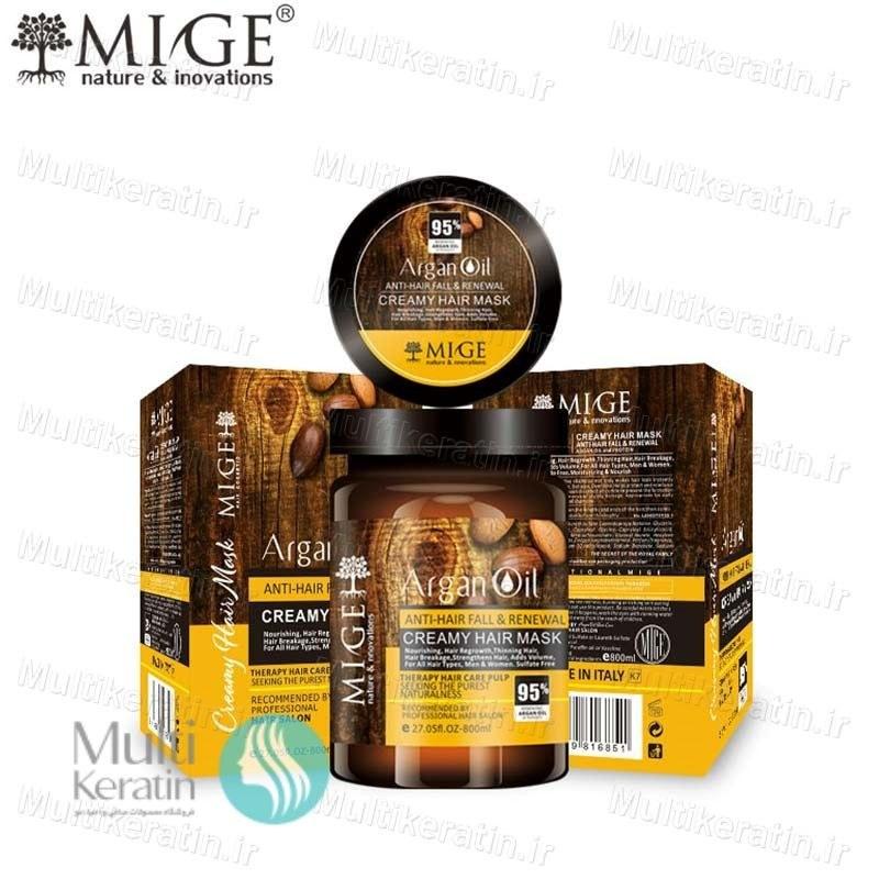 تصویر ماسک مو آرگان میگ بادام تلخ ۸۰۰ میلی MIGE ا Mige Hair Argan Oil Mask Mige Hair Argan Oil Mask