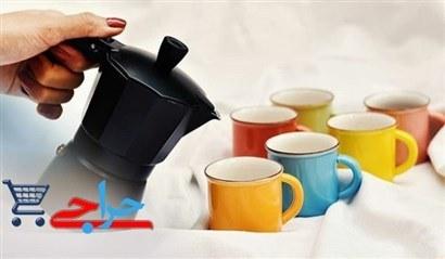 تصویر شات قهوه خوری رنگی | دست کامل