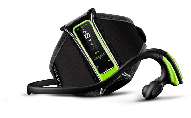 تصویر پخش کننده چند رسانه ای انرژی سیستم رانینگ نئون سبز 8گیگابایت MP3-4 Recorde EnergySistem RUNNING NEON GREEN 8GB
