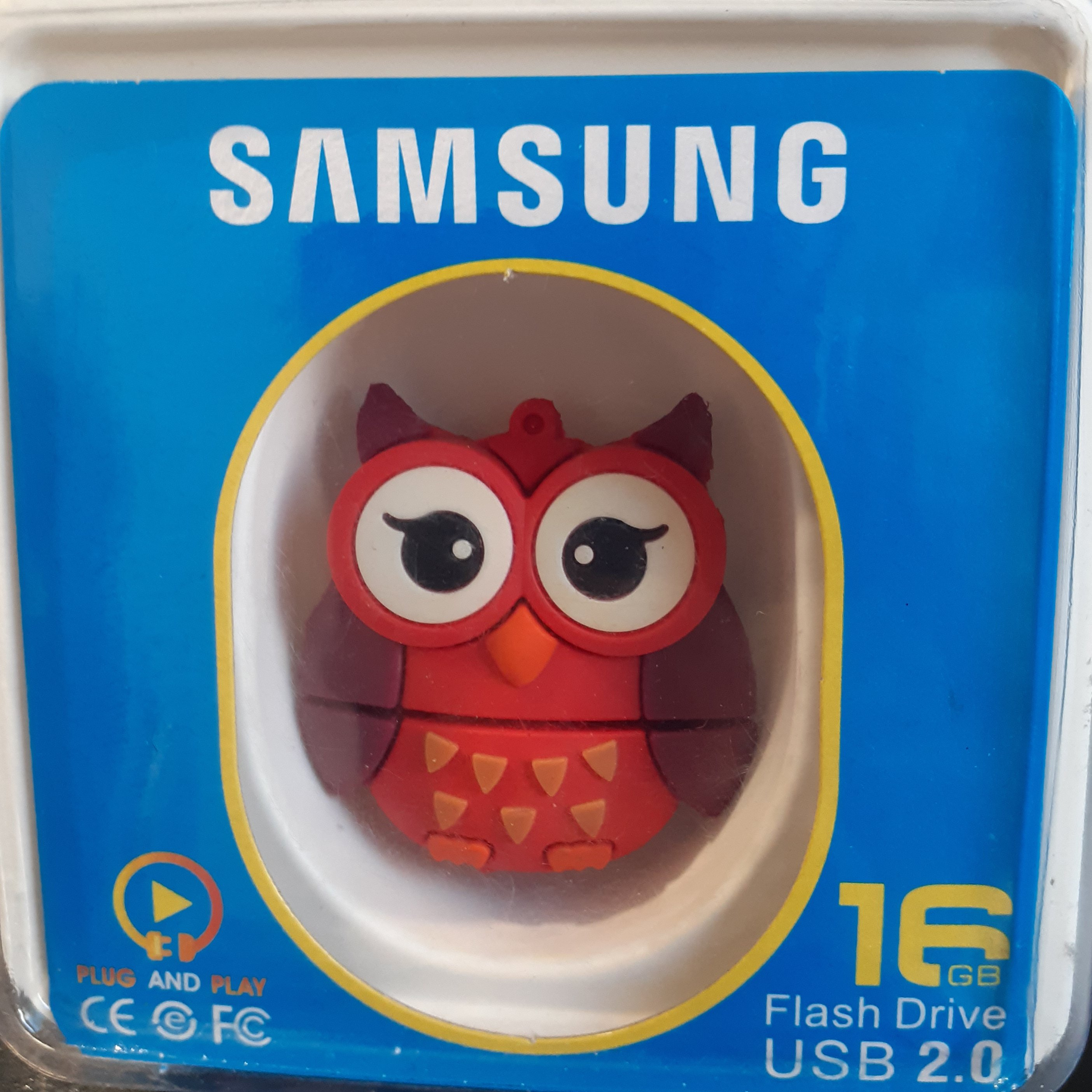 تصویر فلش عروسکی 16 گیگ سامسونگ Flash Drive 16 GB USB 2.0 طرح جغد، روباه