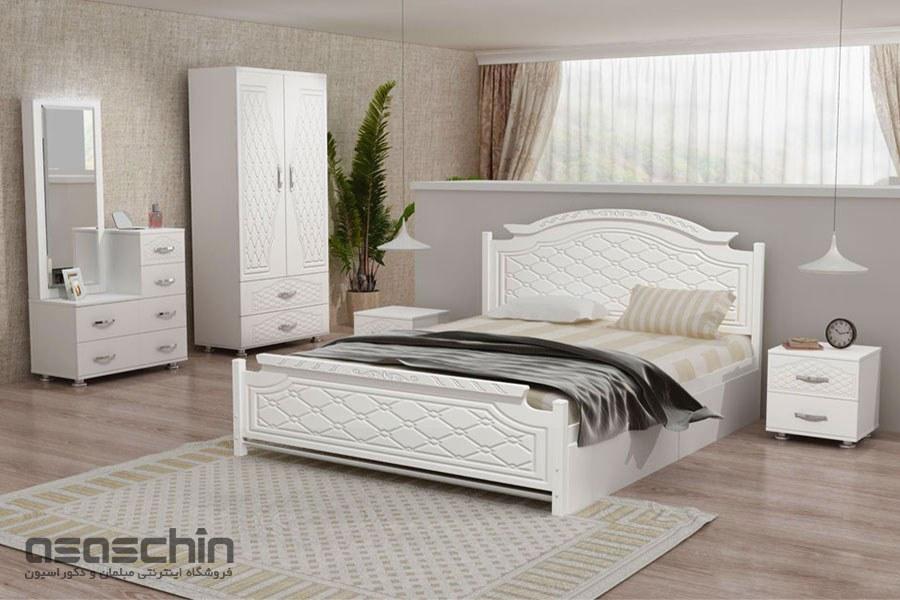 تصویر تخت خواب دو نفره آدرین