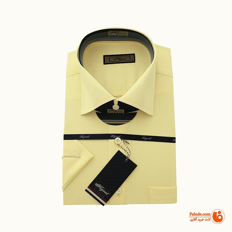 پیراهن آستین کوتاه مردانه هجرت مدل fld_hjt_LIM_TS  
