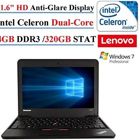 لپ تاپ Lenovo ThinkPad X131E 11.6in 2017، Intel Celeron Dual-Core، 4 GB DDR3، 320 GB SATA، HD LED-Backlit، 802.11n، Windows 7 Professional (تجدید شده) (1)