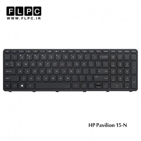 تصویر کیبورد لپ تاپ اچ پی HP Pavilion 15-N Laptop Keyboard مشکی-اینتر کوچک-بافریم