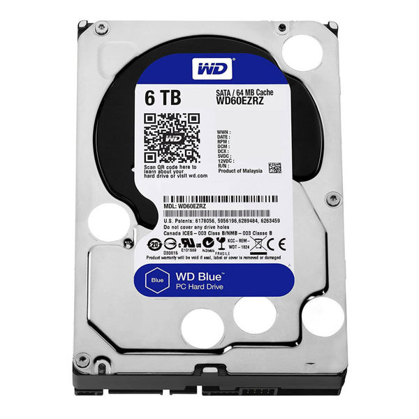 تصویر Internal Hard Drive Western Digital Purple 6TB WD60PURZ هارد دیسک اینترنال وسترن دیجیتال 6 ترابایت بنفش WD60PURZ