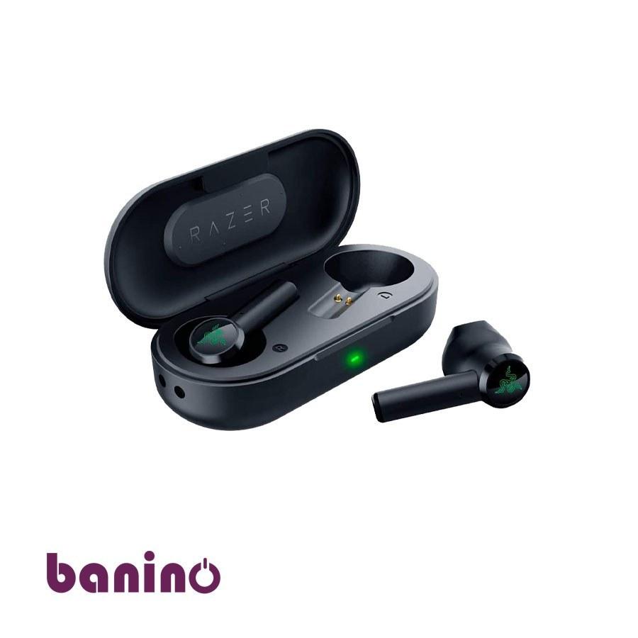 تصویر ایرباد ریزر سری Hammerhead - دارای بلوتوث ،بیسیم و امکان کنترل لمسی با باکس جداگانه برای شارژ مقاوم در برابر نفوذ آب Razer Hammerhead True Wireless Bluetooth Earbuds: Ultra Low-Latency - Water Resistant - Bluetooth 5.0 Auto Pairing - Passive Noise Isolation - Matte Black