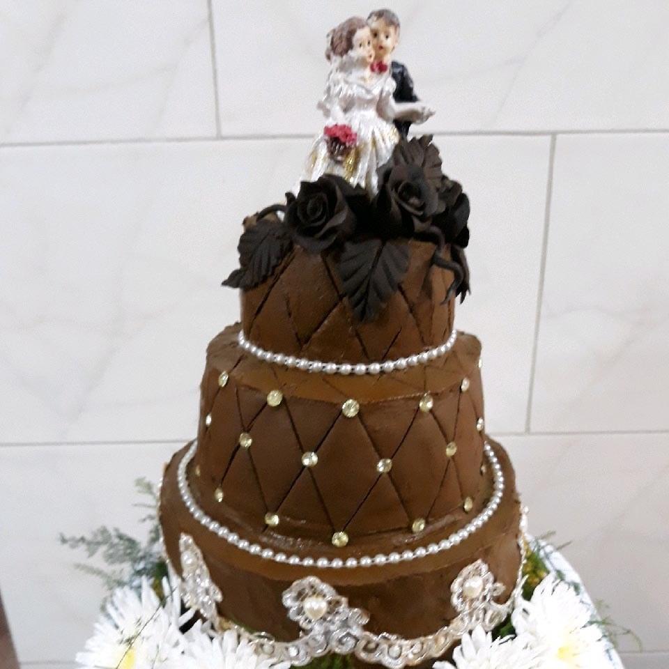تصویر کیک حنا سه طبقه