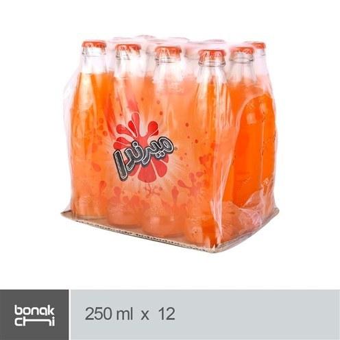 تصویر نوشابه پرتقالی شیشه ای میرندا - 250 میلی لیتر بسته 12 عددی Mirinda Orange Soft Drink - 250 ml