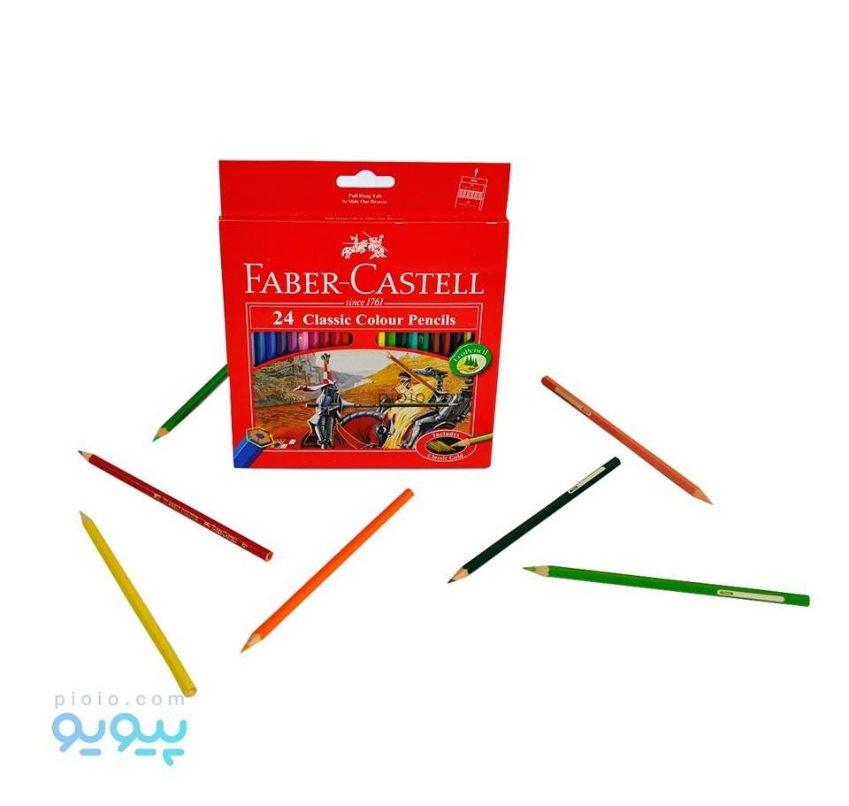مداد رنگی ۲۴ رنگ فابرکاستل  