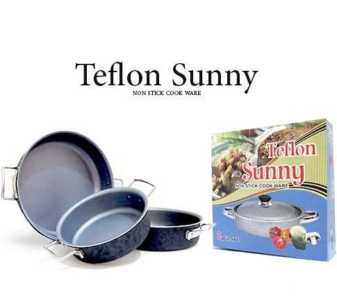 پک 3 عددی ماهیتابه Teflon Sunny