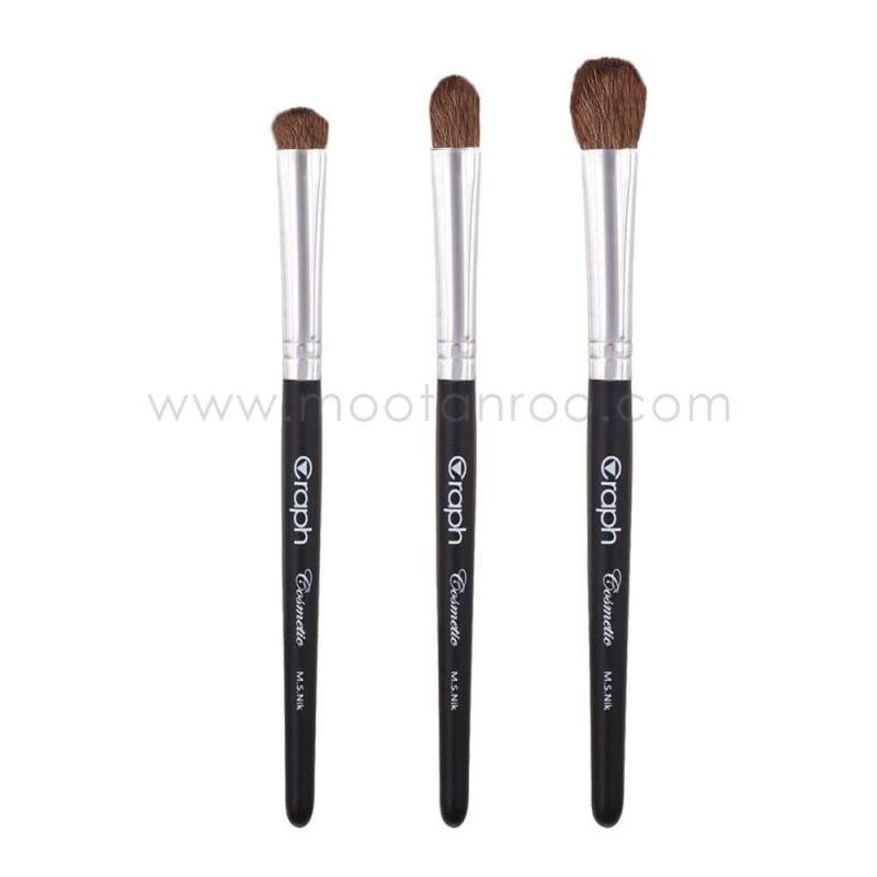 ست 3 عددی قلم موی آرایشی با موی طبیعی مناسب فید سایه گراف