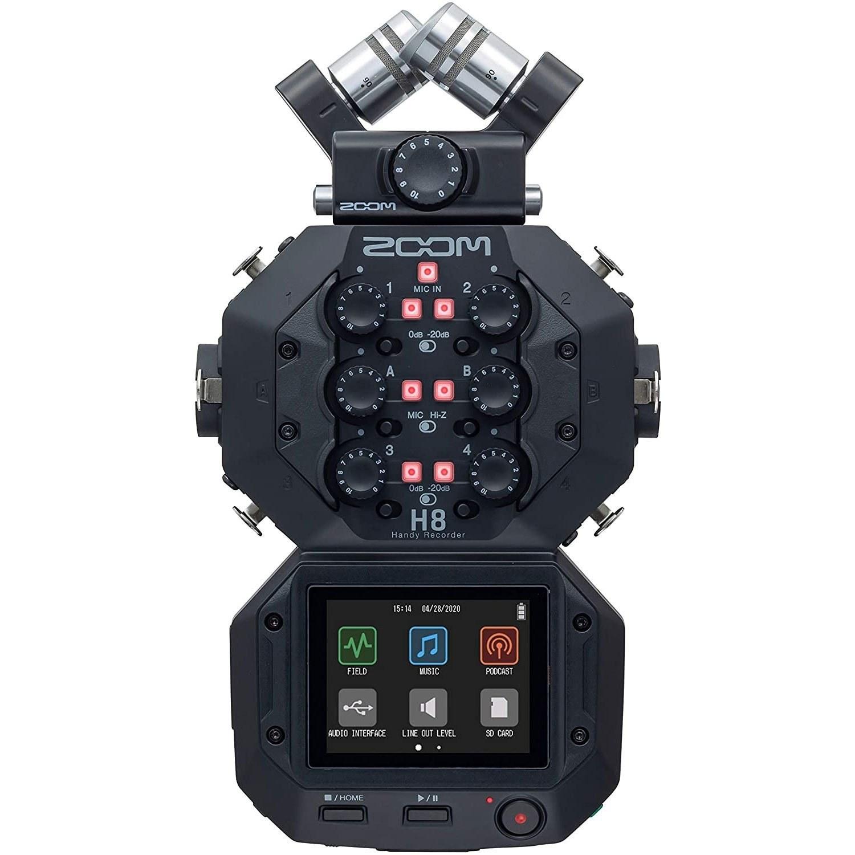 تصویر رکوردر صدا زوم Zoom H8 Portable Handy Recorder Zoom H8 8-Input / 12-Track Portable Handy Recorder