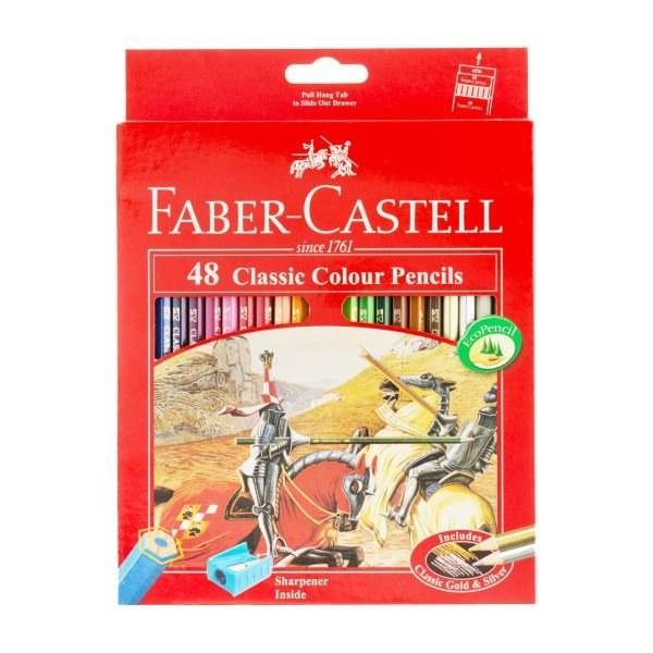 مداد رنگي 48 رنگ فابر کاستل مدل Classic