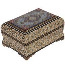 کروبی جعبه خاتم طرح اسلیمی سایز کوچک