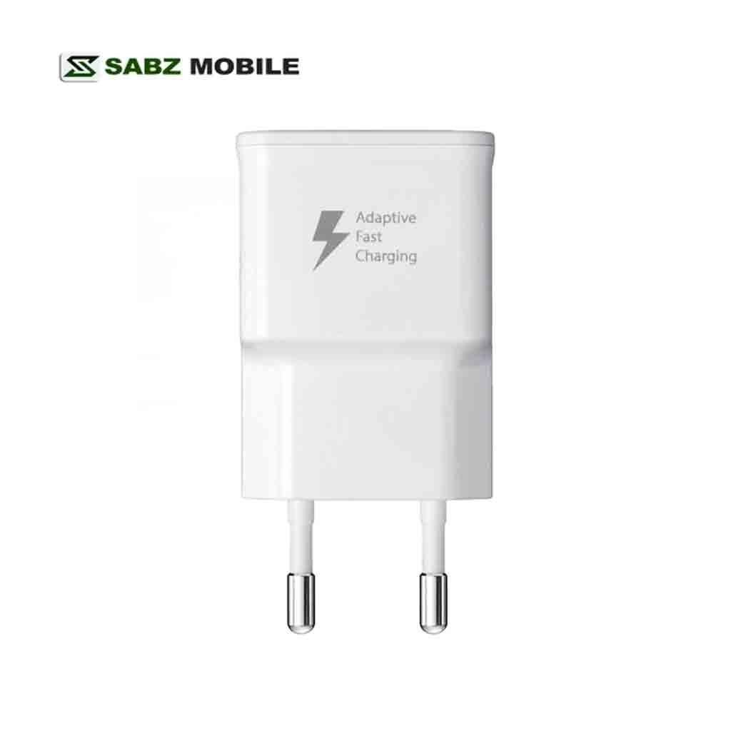تصویر شارژر مسافرتی اورجینال سامسونگ مدل EP-TA20EWE با قابلیت شارژ سریع samsung EP-TA20EWE Fast Charge Travel Adapter