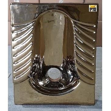 تصویر کاسه توالت طلایی کد 05