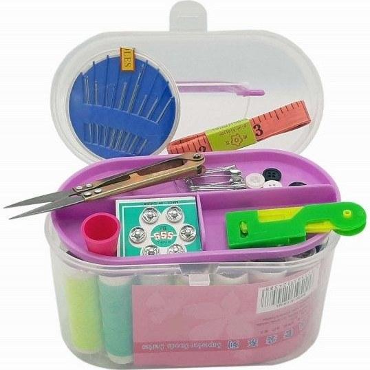 عکس ست کامل لوازم خیاطی سفری به همراه جعبه Sewing Supplies Box ست-کامل-لوازم-خیاطی-سفری-به-همراه-جعبه