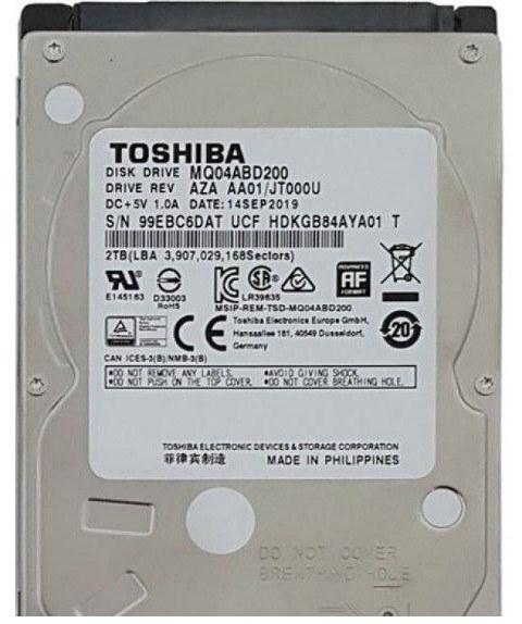 تصویر هارد دیسک لپ تاپ توشیبا MQ۰۴ABD۲۰۰ با ظرفیت ۲ ترابایت TOSHIBA MQ04ABD200 2TB 128MB Cache NoteBook Hard Drive