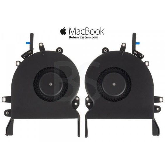 "تصویر فن چپ و راست پردازنده مک بوک پرو A1990 تاچ بار 15 اینچی سال 2018 CPU FAN Apple MacBook Pro Touch Bar 15"" A1990"