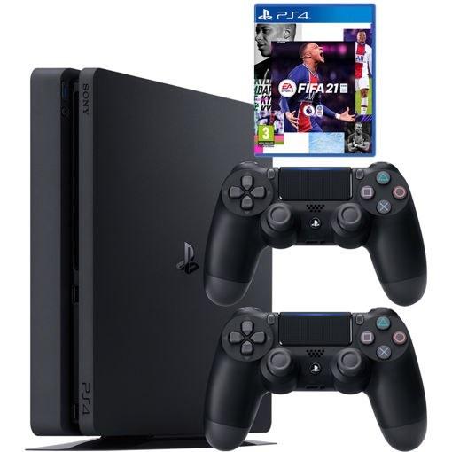 تصویر کنسول بازی سونی پلی استیشن 4 مدل Slim سری CUH-2216A Region 2 به همراه 10 بازی در هارددیسک - ظرفیت 500 گیگابایت Sony Playstation 4 Slim Region 2 CUH-2216A Game Console With 10 Game in Hard - 500GB