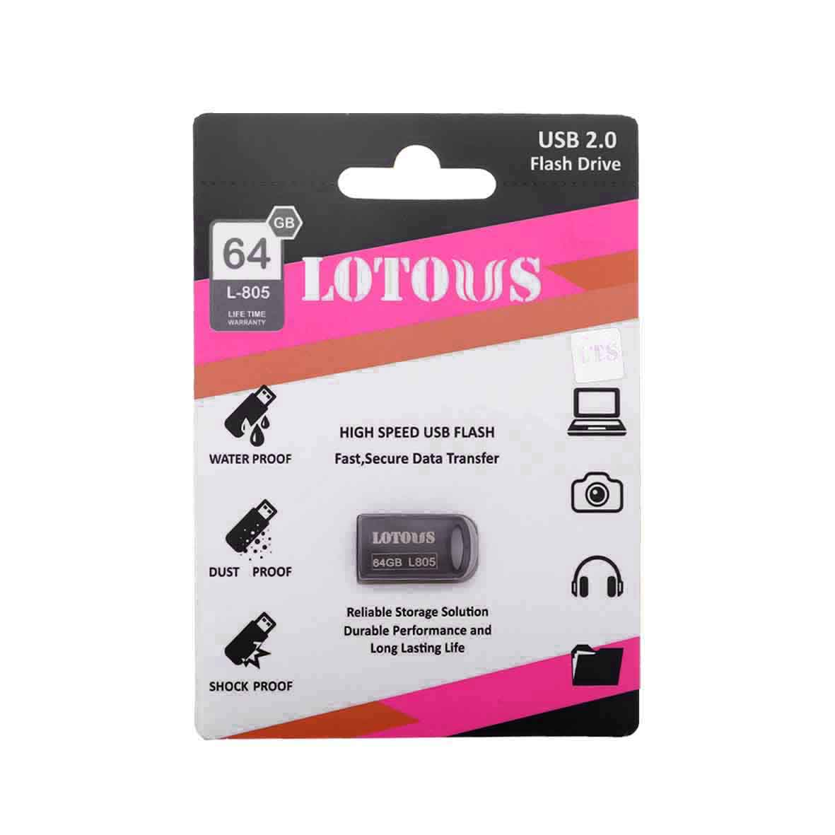 main images فلش مموری LOTOUS مدل USB2 L805 حافظه 64GB LOTOUS L805 32GB USB2.0 flash memory