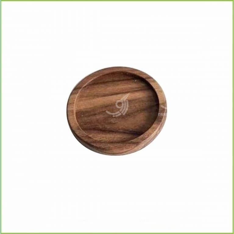 تصویر زیر لیوانی چوبی گرد و مربع قطر ۱۲ کد ۱۰۲۰۲۱