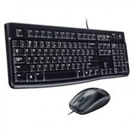 تصویر کیبورد و موس بی سیم لاجیتک MK100 Logitech MK100 Wired Keyboard+Mouse