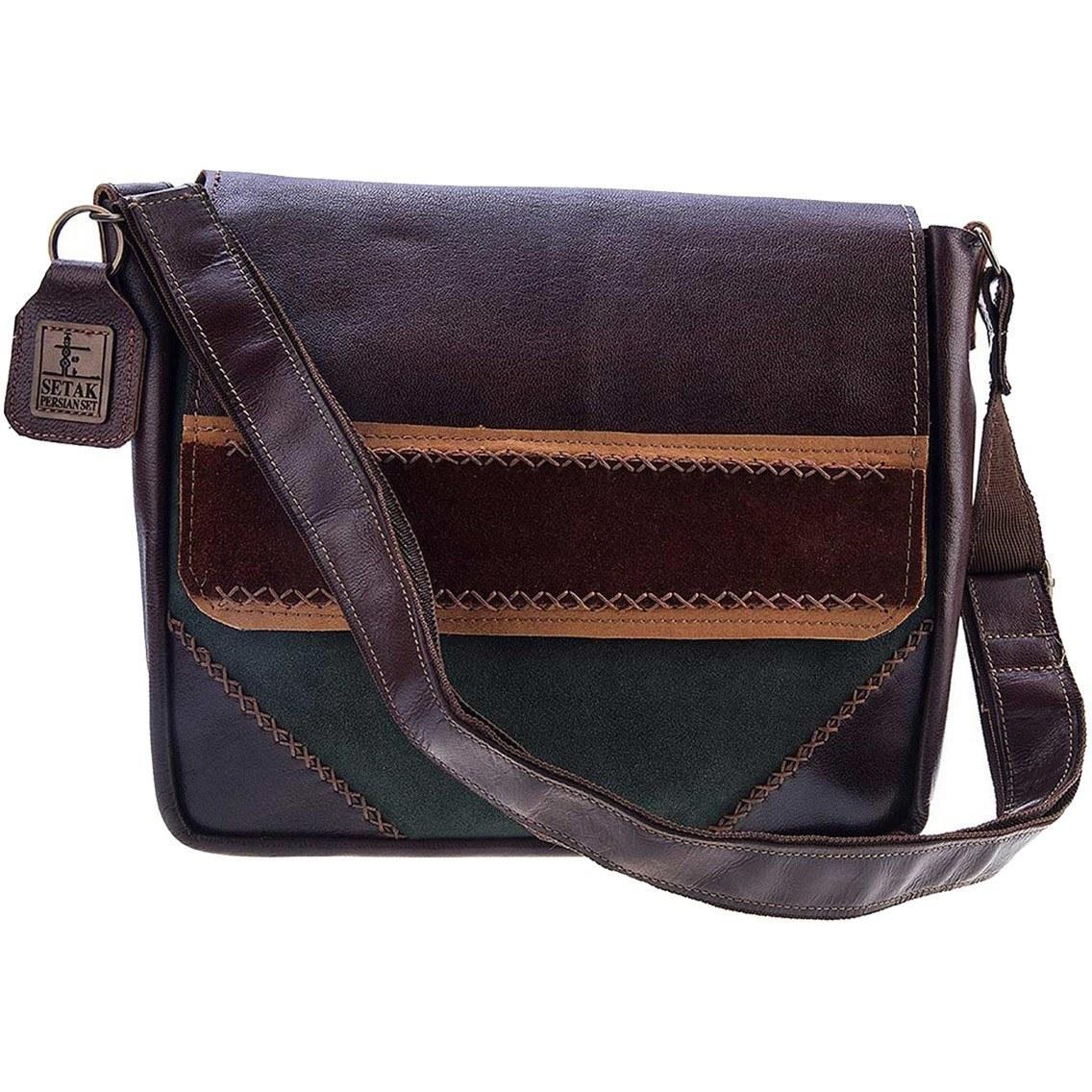 کیف دوشی چرم طبیعی گالری ستاک مدل B589
