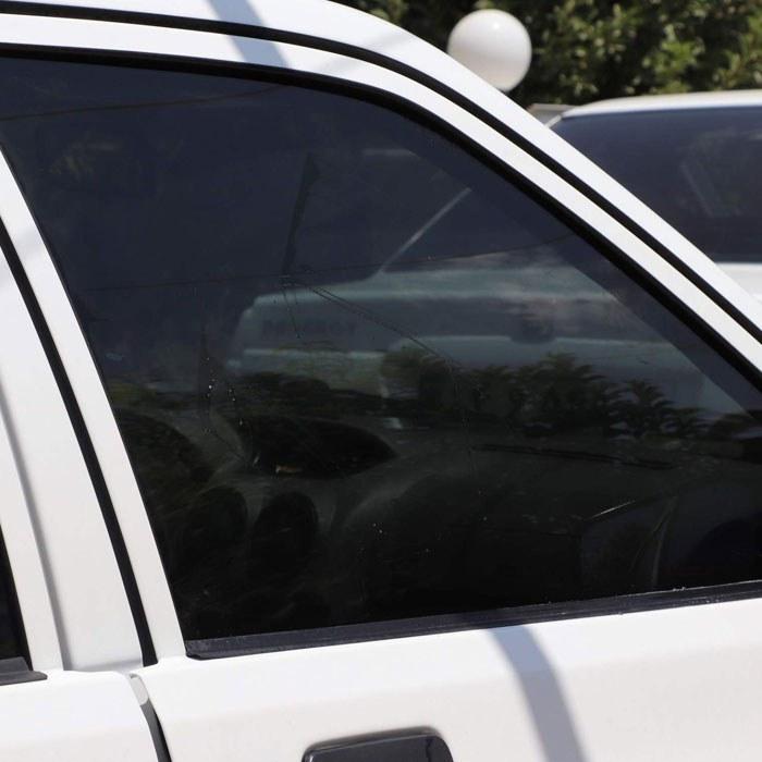 تصویر برچسب دودی شیشه خودرو مدل QUALITY USA مناسب برای خودروی پراید