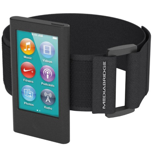 تصویر Armband Mediabridge برای iPod Nano - نسل هفتم / نسل هشتم (سیاه) - مدل AB1 (قسمت # AB1-IPN7-BLACK) Mediabridge Armband for iPod Nano - 7th Generation / 8th Generation ( Black ) - Model AB1 (Part# AB1-IPN7-BLACK )