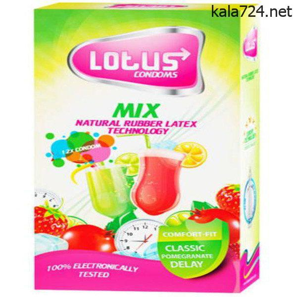 کاندوم لوتوس مدل Mix بسته 12 عددی