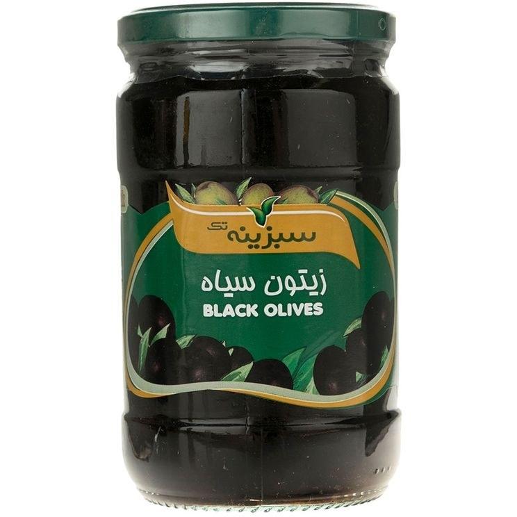 تصویر زیتون سیاه سبزینه تک مقدار 700 گرم