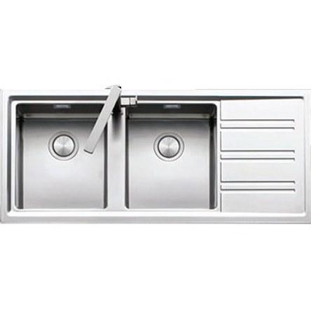 سینک ظرفشویی توکار استیل زیگما مدل EASY 2B1D 116 Square |