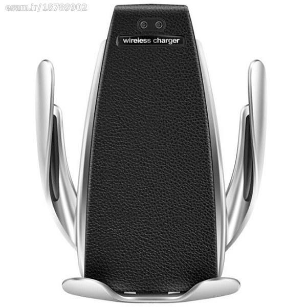 تصویر پایه نگهدارنده و شارژر بیسیم موبایل مدل S5 Wireless Charger & Mobile Holder Model  S5