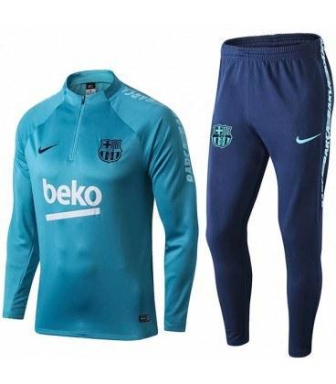 ست نیم زیپ پسرانه بارسلونا Barcelona Junior Training Tracksuit 2020