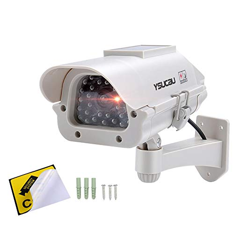 دوربین مدار بسته جعلی امنیتی YSUCAU خورشیدی YSUCAU با چشمک زن در فضای باز / استفاده داخلی برای منازل