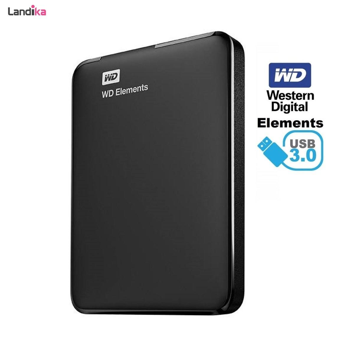 تصویر هارد اکسترنال وسترن دیجیتال مدل Elements ظرفیت 250 گیگابایت Western Digital Elements External Hard Drive - 250GB