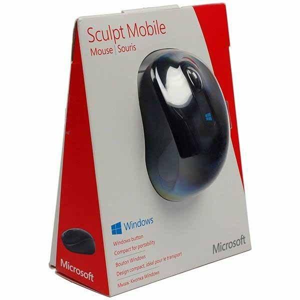 تصویر موس بی سیم ماکروسافت Sculpt Mobile Blue Microsoft Sculpt Mobile Blue Wireless Mouse