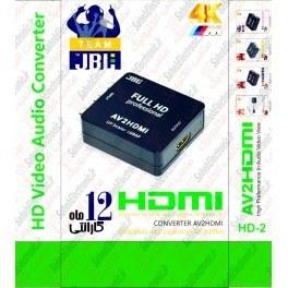 تصویر کنورتور JBL تبدیل AV به HDMI