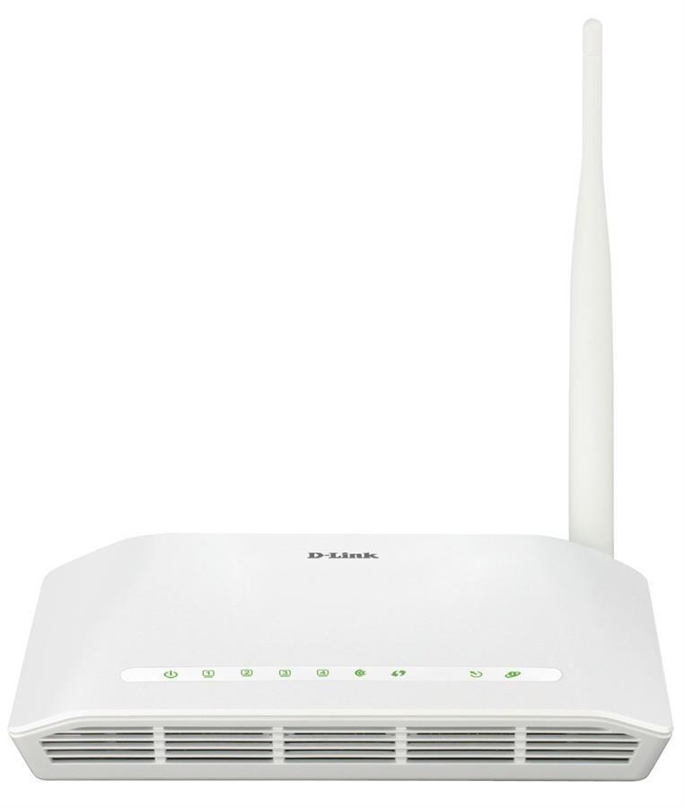 تصویر مودم چهار پورت بیسیم دی لینک D-Link DSL-2730U-U1 Wireless N150 ADSL2+ Modem