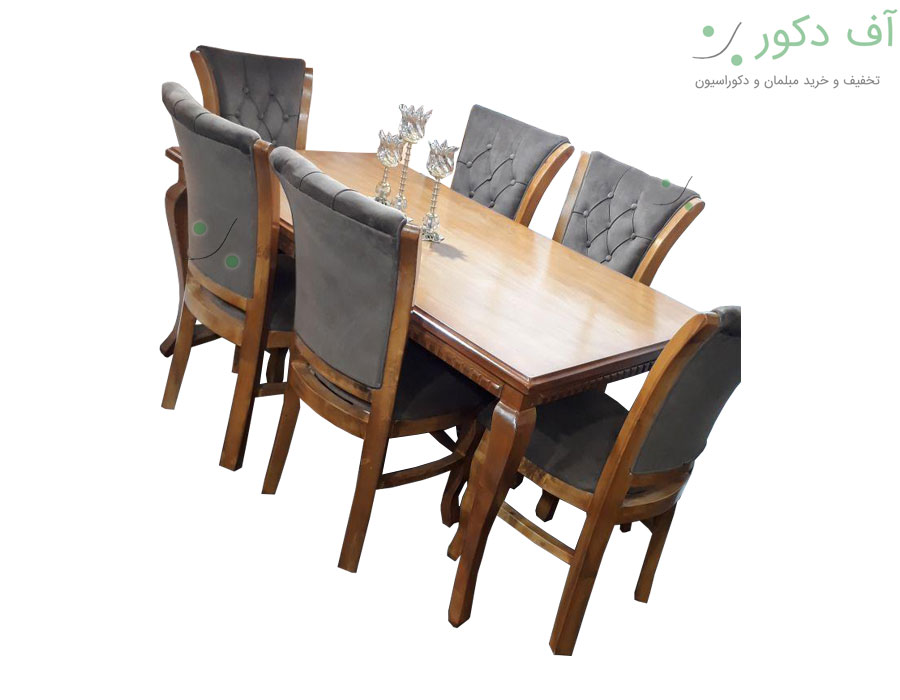 میز ناهار خوری 6 نفره تاج |