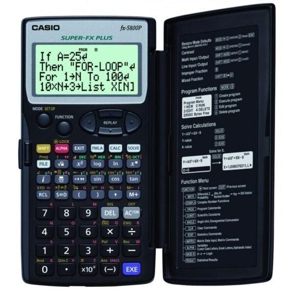 تصویر ماشین حساب کاسیو مدل FX-5800P