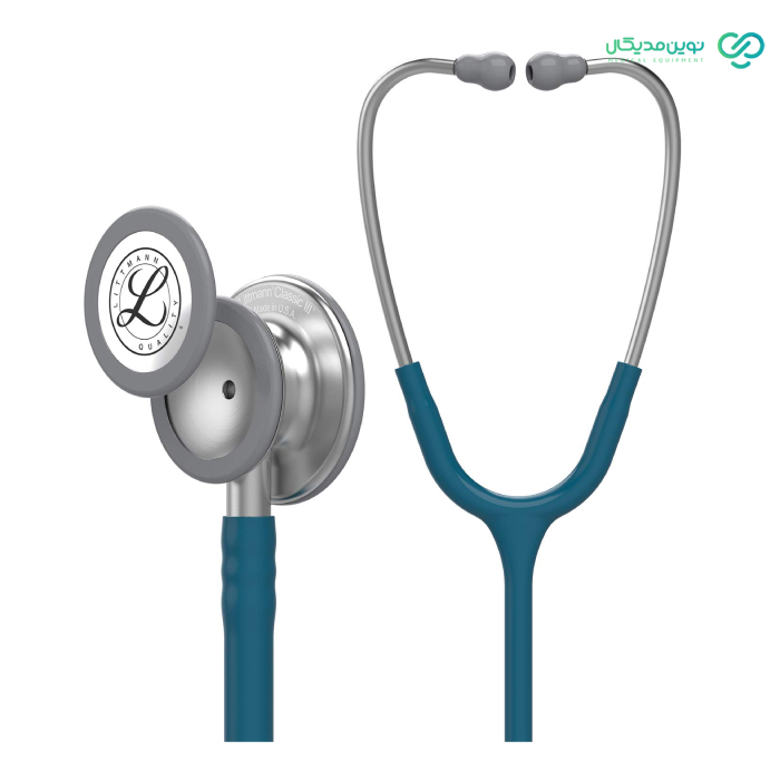 تصویر گوشی طبی لیتمن مدل کلاسیک III کد ۵۶۲۳ Littmann Classic III Stethoscope: Caribbean Blue 5623