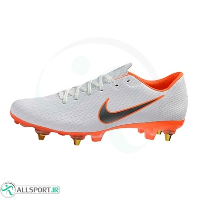کفش فوتسال نایک مرکوریال طرح اصلی سفید نارنجی Nike Mercurial Vapor SG B