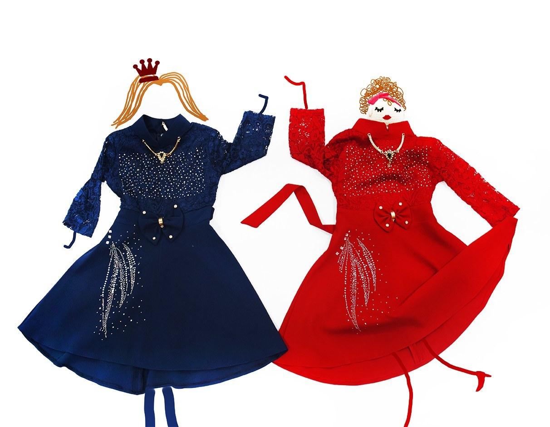 لباس مجلسی دخترانه در رنگ های مختلف