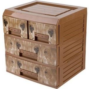 دراور مدیوم طرح چوب 4 کشو (8گانه) هوم کت |