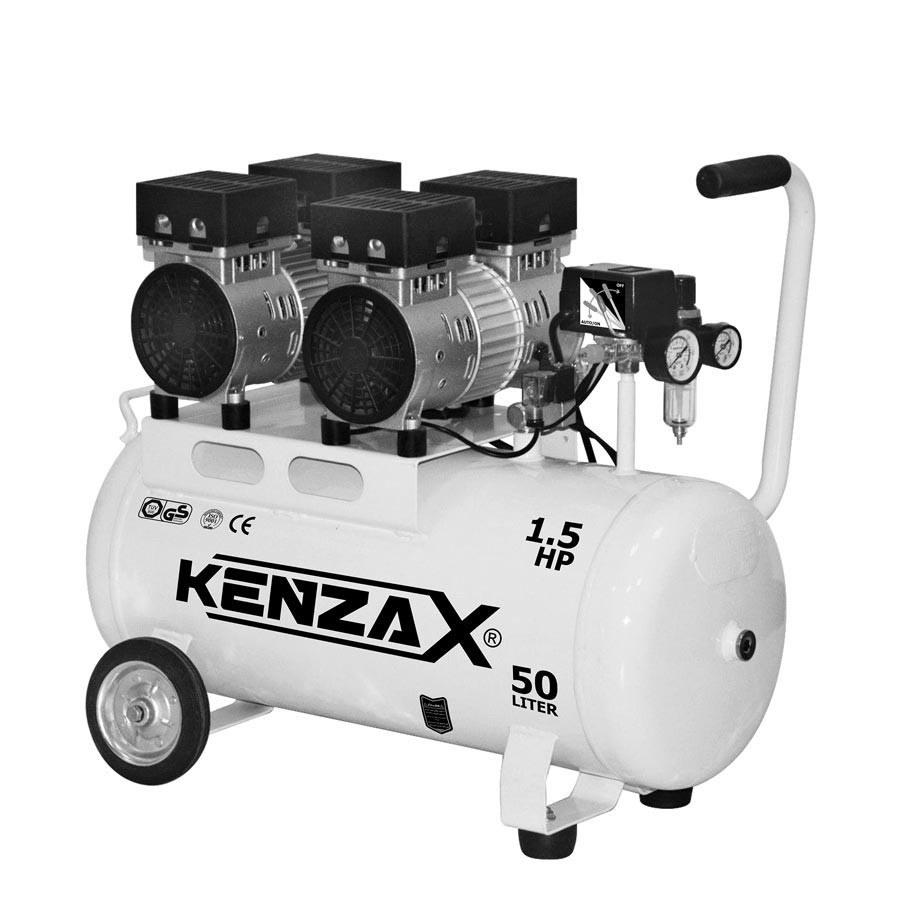 کمپرسور هوا چرخدار 50لیتری بی صدا کنزاکس مدل KACS-150