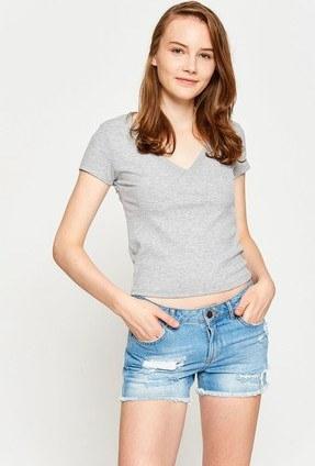 عکس تیشرت زنانه کد 7YAL11405OK  تیشرت-زنانه-کد-7yal11405ok