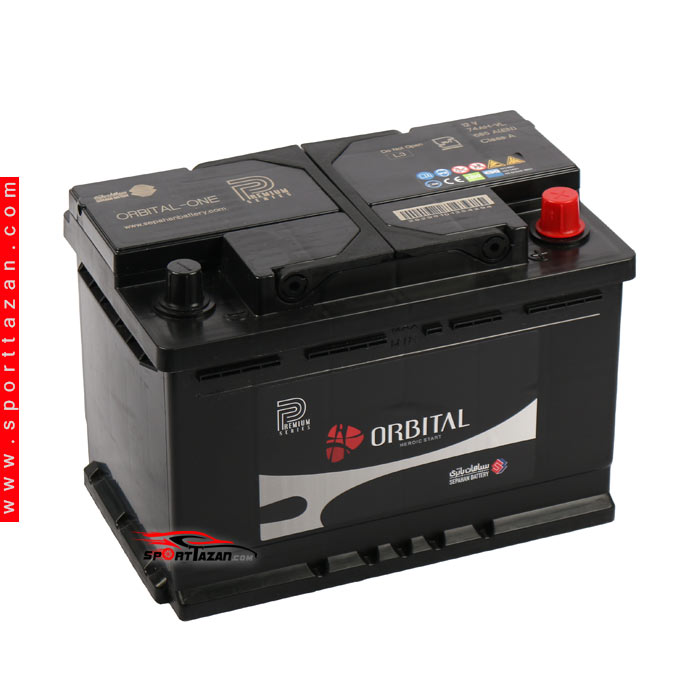 main images باتری اتمی اوربیتال پریمیوم ۷۴ آمپر Orbital Premium Atomic battery 74A