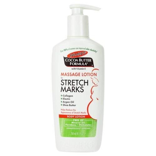 تصویر لوسیون ماساژ پالمرز اصل | رفع ترک و کشیدگی برای مراقبت بارداری | ۲۵۰ میل palmers Massage Lotion for Stretch Marks | 250ml